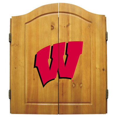 Wisconsin Badgers Dart Board Cabinet | Imperial International | 58-4013