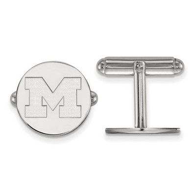 Michigan Wolverines Sterling Silver Cufflinks | Logo Art | SS011UM