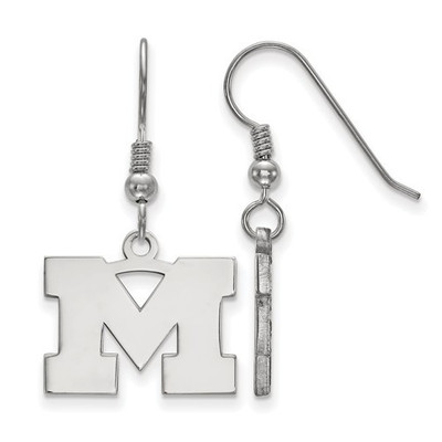 Michigan Wolverines Sterling Silver Dangle Earrings | Logo Art | SS007UM