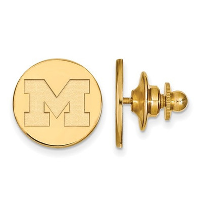 Michigan Wolverines M Logo 14K Gold Lapel Pin | Logo Art | 4Y010UM
