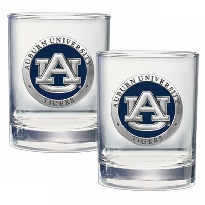 Auburn Tigers Cocktail Glasses | Heritage Pewter | DOF10155EB