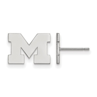 Michigan Wolverines Sterling Silver Post Earrings | Logo Art | SS008UM
