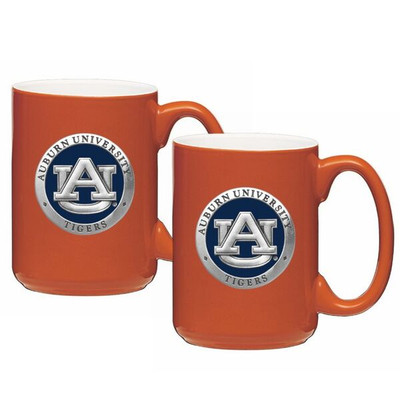 Auburn Tigers Coffee Mug Set of 2 | Heritage Pewter | CM10155EBNG