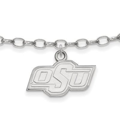 Oklahoma State Cowboys Sterling Silver Ankle Bracelet | Logo Art | SS029OKS