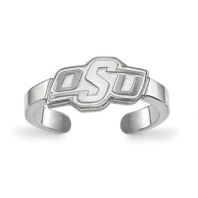 Oklahoma State Cowboys Sterling Silver Toe Ring | Logo Art | SS028OKS