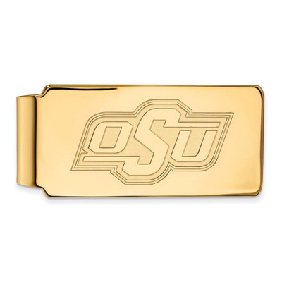 Oklahoma State Cowboys 14K Gold Money Clip | Logo Art | 4Y025OSU