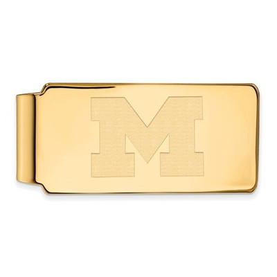 Michigan Wolverines 14K Gold Money Clip | Logo Art | 4Y024UM