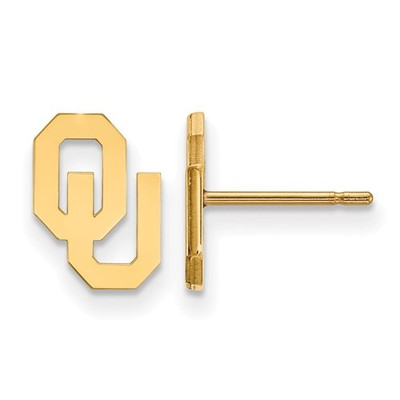 Oklahoma Sooners 14K Gold Post Earrings | Logo Art | 4Y008UOK