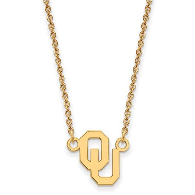 Oklahoma Sooners 14K Gold Pendant Necklace | Logo Art | 4Y015UOK-18