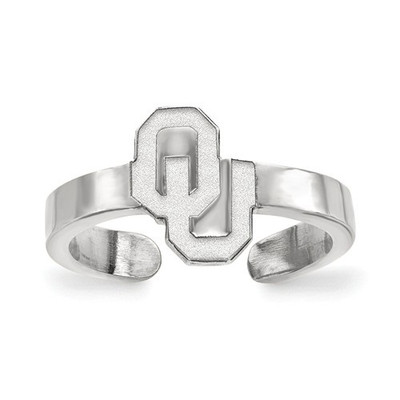 Oklahoma Sooners Sterling Silver Toe Ring | Logo Art | SS059UOK