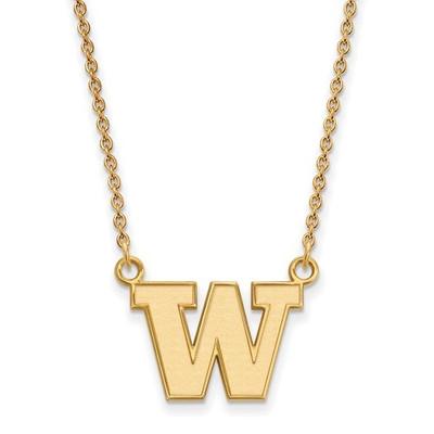 Washington Huskies 14K Gold Pendant Necklace | Logo Art | 4Y008UWA-18