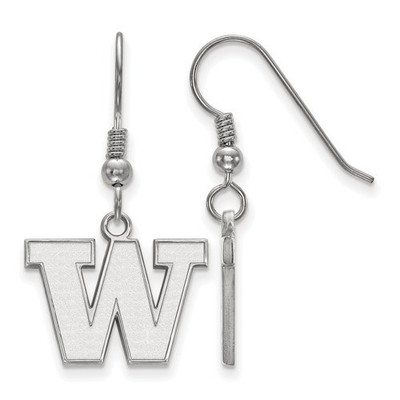 Washington Huskies Sterling Silver Dangle Earrings | Logo Art | SS007UWA