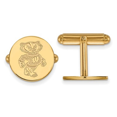 Wisconsin Badgers 14K Gold Cufflinks | Logo Art | 4Y052UWI
