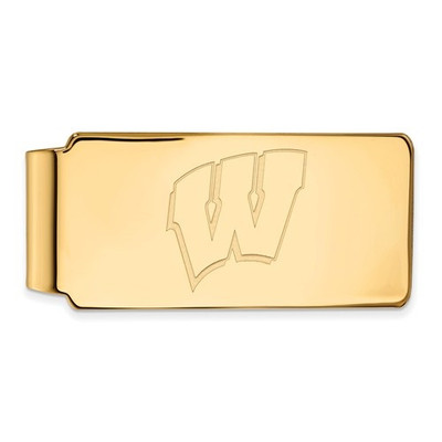 Wisconsin Badgers 14K Gold WV Money Clip | Logo Art | 4Y025UWI