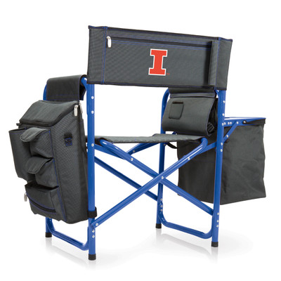 Illinois Fighting Illini Fusion Tailgating Chair | Picnic Time | 807-00-639-214-0