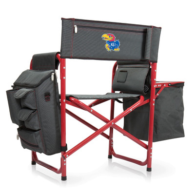Kansas Jayhawks Fusion Tailgating Chair | Picnic Time | 807-00-600-244-0
