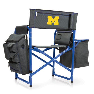 Michigan Wolverines Fusion Tailgating Chair | Picnic Time | 807-00-639-344-0