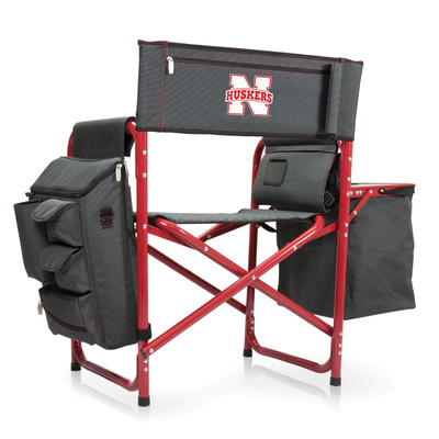 Nebraska Huskers Fusion Tailgating Chair | Picnic Time | 807-00-600-404-0
