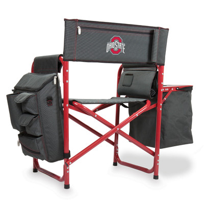 Ohio State Buckeyes Fusion Tailgating Chair | Picnic Time | 807-00-600-444-0