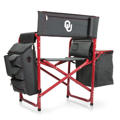 Oklahoma Sooners Fusion Tailgating Chair | Picnic Time | 807-00-600-454-0