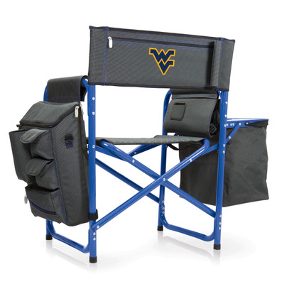 West Virginia Mountaineers Fusion Tailgating Chair | Picnic Time | 807-00-639-834-0