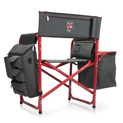 Wisconsin Badgers Fusion Tailgating Chair | Picnic Time | 807-00-600-644-0