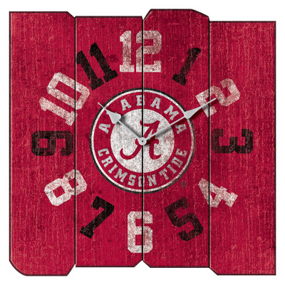 Alabama Crimson Tide Vintage Square Wall Clock | Imperial International | 371-3001