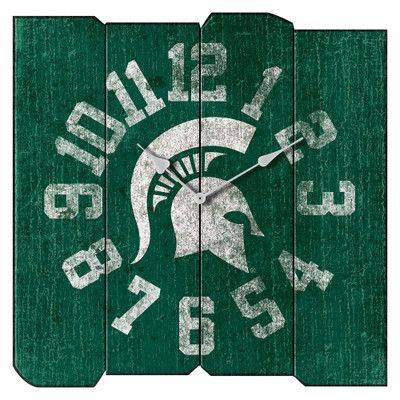 MSU Spartans Vintage Square Wall Clock | Imperial International | 371-3016