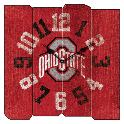 Ohio State Buckeyes Vintage Square Wall Clock | Imperial International | 371-3015