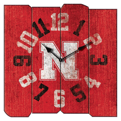 Nebraska Huskers Vintage Square Wall Clock | Imperial International | 371-3010