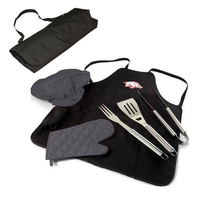 Arkansas Razorbacks BBQ Apron Tote Set | Picnic Time | 635-88-179-034-0