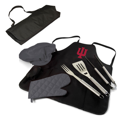 Indiana Hoosiers BBQ Apron Tote Set | Picnic Time | 635-88-179-674-0