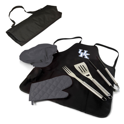 Kentucky Wildcats BBQ Apron Tote Set | Picnic Time | 635-88-179-264-0