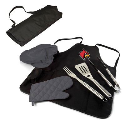 Louisville Cardinals BBQ Apron Tote Set | Picnic Time | 635-88-179-304-0