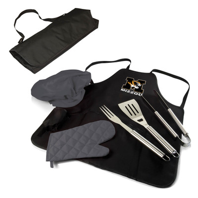 Missouri Tigers BBQ Apron Tote Set | Picnic Time | 635-88-179-394-0