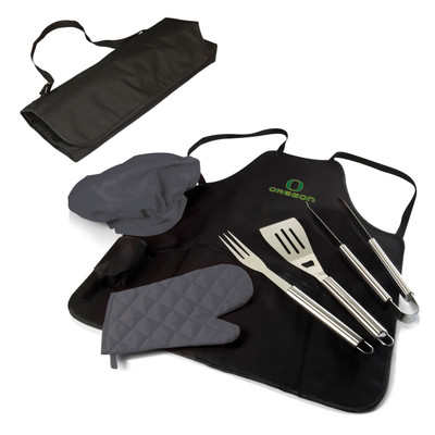 Oregon Ducks BBQ Apron Tote Set | Picnic Time | 635-88-179-474-0
