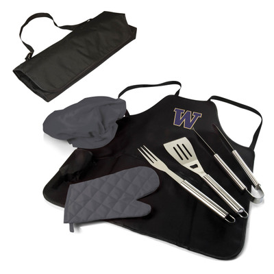 Washington Huskies BBQ Apron Tote Set | Picnic Time | 635-88-179-624-0