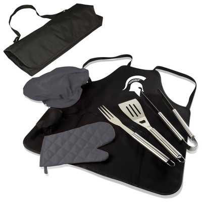 Michigan State Spartans BBQ Apron Tote Set | Picnic Time | 635-88-179-354-0