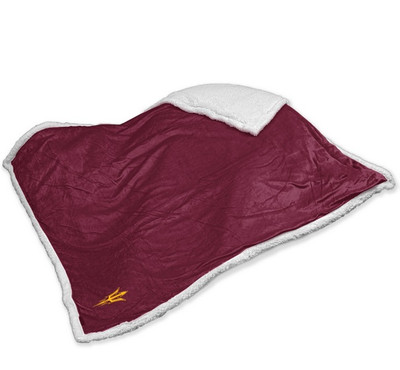 Arizona State Sun Devils Embroidered Sherpa Throw Blanket | Logo Chair | 107-24