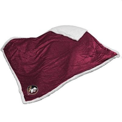 FSU Seminoles Embroidered Sherpa Throw Blanket | Logo Chair | 136-24