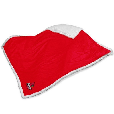 Louisville Cardinals Embroidered Sherpa Throw Blanket | Logo Chair | 161-24