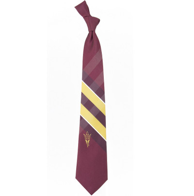 Arizona State Sun Devils Woven Poly Check Tie | Eagles Wings | 3258