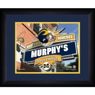 Michigan Wolverines Personalized Pub Print | Get Letter Art | MICHPUB
