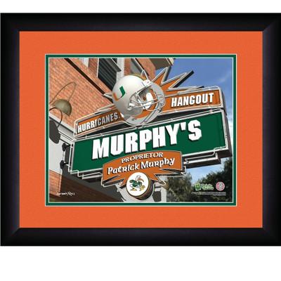 Miami Hurricanes Personalized Pub Print | Get Letter Art | MIAPUB