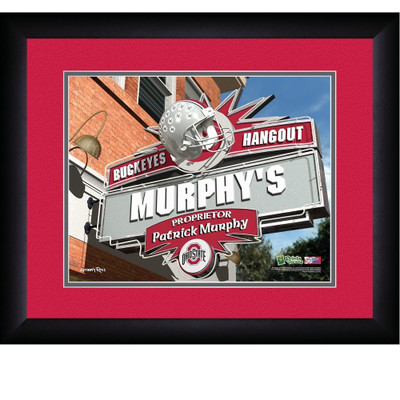 Ohio State Buckeyes Personalized Pub Print | Get Letter Art | OHIOPUB