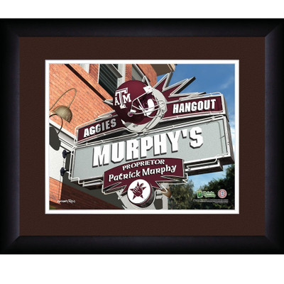 Texas A&M Aggies Personalized Pub Print | Get Letter Art | TAMPUB