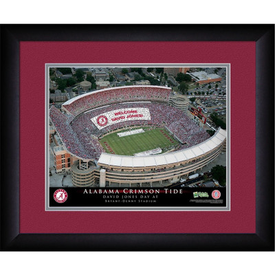 Alabama Crimson Tide Personalized Stadium Print | Get Letter Art | STAALA
