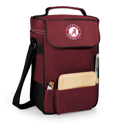 Alabama Crimson Tide Duet Wine and Cheese Picnic Tote | Picnic Time | 623-04-118-004-0-1