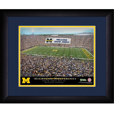 Michigan Wolverines Personalized Stadium Print | Get Letter Art | STAMICH