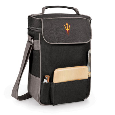 Arizona State Sun Devils Duet Wine and Cheese Picnic Tote | Picnic Time | 623-04-175-022-0-1